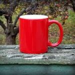 keramický hrnek - červený