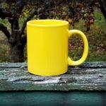 keramický hrnek - žlutý