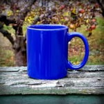 keramický hrnek - modrý